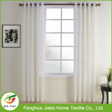 A cortina drapeja as cortinas baratas brancas do poliéster popular em linha