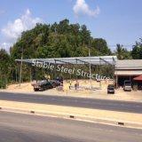 Entrepôt préfabriqué de bâti en acier de la Thaïlande avec la forme spéciale