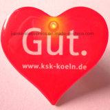 인쇄되는 로고를 가진 주문 심혼 모양 LED 깜박거리기 핀 (3161)