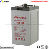 Bateria livre 2V400ah do gel da longa vida da manutenção para o inversor