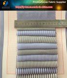 Sofortige Waren! Gewebe-Garn gefärbtes Streifen-Gewebe des Polyester-T400 mit Wicking für Hemd