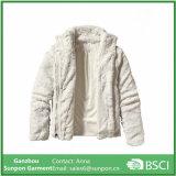 새로운 디자인 멋쟁이 여자의 두 배 옆 양털 재킷