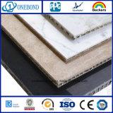 Revestimiento al aire libre de la pared para el panel de aluminio de piedra del panal