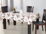 Plastique coloré en PVC imprimé Table Clth Flanel Backing Tablecloth