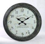 Parete decorativa afflitta dell'orologio di parete del metallo
