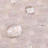 流行のワッフルのジャカード防水ポリエステル浴室のシャワー・カーテン(01S0009)