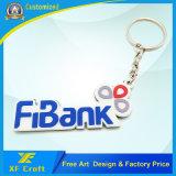 Fornecer o Tag chave plástico do PVC do logotipo do anel chave da forma do número de Aribic para a lembrança (XF-KC-P18)