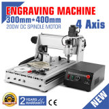 Máquina del grabador del ranurador del CNC de 4 ejes