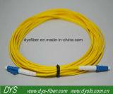 Cuerda de corrección óptica unimodal a una cara de fibra de LC-LC