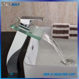 Faucet ванной комнаты рукоятки Singel стеклянный