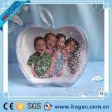 Акриловый шарик воды глобуса снежка рамки фотоего