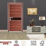 Modèle en bois moderne de porte de fini de mélamine de modèle de porte (GSP13-016)