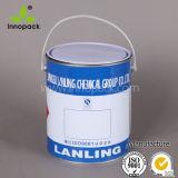 5개 리터 금속은 뚜껑 화학제품 주석을%s 가진 1개 갤런 페인트 물통을 통조림으로 만든다