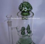 Heißer Verkaufs-Pilz-rauchende Wasser-Rohr-Bienenwabe-Filtrierapparat-Glastrinkwasserbrunnen-Tabak-Rohre