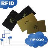 Cartão plástico de gravação do controle de acesso do PVC RFID do número da alta qualidade barata com laminação