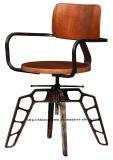 Промышленного металла в ресторане мебель фанера деревянные стулья шарнирного соединения