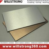 Panneau composé en aluminium balayé par argent pour l'impression graphique