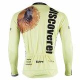 Желтый Lion man'Спортивные куртки длинной втулки на велосипеде Джерси