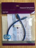 Cable del cable de LAN del OEM UTP/F-UTP CAT6 Snagless/de la cuerda de corrección del establecimiento de una red