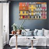 Af:drukken van het Canvas van het Huis van de Stad van het realisme het kleurrijke