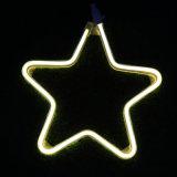 Indicatore luminoso di natale della corda di motivo degli indicatori luminosi al neon delle stelle