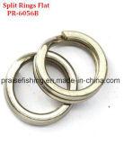 Boucles fendues de joints circulaires de pêche d'émerillon de noeud de pêche plate fendue d'attrait