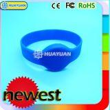 Weiches Silikon wasserdichtes RFID MIFARE Classic 1K Silikon Wristband für Schwimmbad