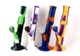 Gldg Hot Sale Colorful DAB Rig Recycler Beaker Base Silicone Smoking Water Pipes