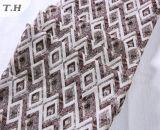 Il tessuto semplice del sofà del jacquard del Rhombus per mobilia