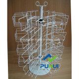 Het spinnen van Rek van de Vertoning van het Servet van de Vloer van het Metaal het Bevindende voor KleinhandelsWinkels (PHY222)