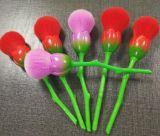 유일한 1PCS는 장식용 메이크업 솔 세트를 위한 로즈 꽃 메이크업 솔을 골라낸다