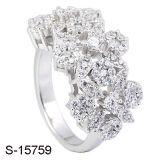 De zilveren Ringen van de Vrouwen van het Ontwerp van de Verlovingsringen van CZ van Juwelen Nieuwe Buitensporige
