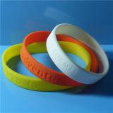 Wristband di Debossed Slicone di pollice di abitudine 1/2
