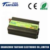 C.C. modificada 1500W da onda de seno ao inversor da potência de C.A. com carregador de bateria