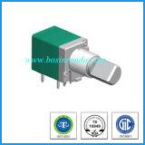 potenziometro rotativo di 9mm con l'asta cilindrica del metallo dell'interruttore per l'amplificatore del miscelatore
