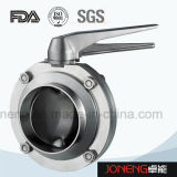 Manual de Calidad Sanitaria de acero inoxidable soldado la válvula de mariposa (JN-BV1002)