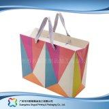 쇼핑 선물 옷 (XC-bgg-026)를 위한 인쇄된 종이 포장 운반대 부대