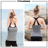 Design personalizado as mulheres de desgaste de fitness topo camiseta simples