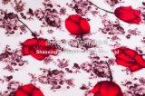 非常に重い花によって印刷されるフランネル毛布