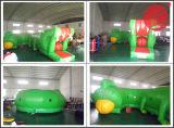2017 Stuk speelgoed van de Tunnel van de Sport van het Circus van de Trein het Interactieve Opblaasbare (T5-004)