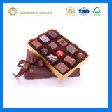 Boîte-cadeau de empaquetage de papier de fantaisie de luxe faite sur commande de sucrerie de chocolat (avec le plateau de diviseur)