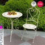 Poweder beschichtendes fertiges Metallim freienBistro-Set