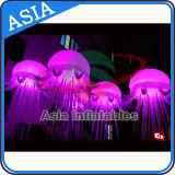 Illuminazione bella di notte delle meduse della decorazione del partito, medusa gonfiabile d'attaccatura del LED