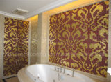壁の装飾のための金ガラスモザイク模様