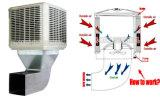 Dispositivo di raffreddamento di aria evaporativo industriale del dispositivo di raffreddamento del deserto della palude per il ventilatore di raffreddamento ad aria dell'acqua
