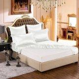 Conjunto puro blanco de lujo verdadero inconsútil de seda estándar de la hoja de la seda de mora de ropa de cama de Oeko-Tex 100 de seda de la serie de la elegancia de la nieve de Taihu 19momme