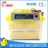 Incubateur complètement automatique de 96 oeufs de poulet de Hhd à vendre