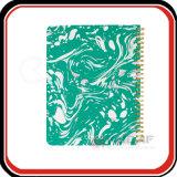 Caderno semanal do mármore do planejador da espiral feita sob encomenda do Hardcover A5