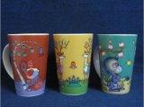 Taza de café popular al por mayor de la impresión 12oz, taza de cerámica con el diseño del cliente