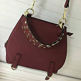 De nieuwe Beslagen Manier van het Leer van het Ontwerp Handtas Dame Messenger Bags Emg4817